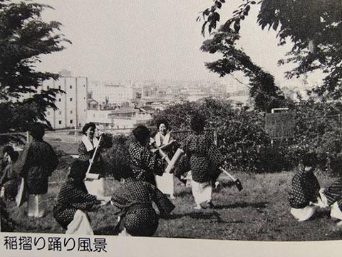 芦検 稲すり踊り