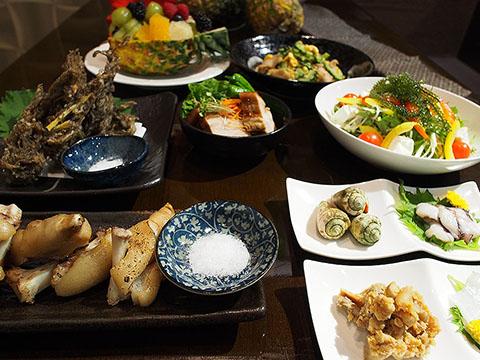 奄美大島の郷土料理「じゅりしゃコース」